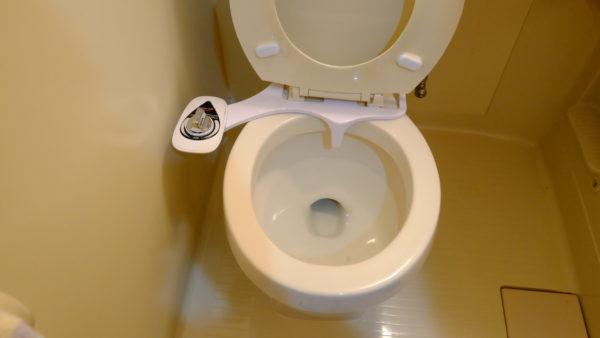 電源不要のシャワートイレ